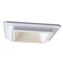 Nora NL-486W - Square Plastic White Baffle with White Plastic Trim