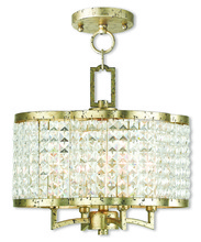 Livex Lighting 50574-28 - 4 Light WG Mini Chandelier/Semi Flush