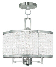 Livex Lighting 50574-91 - 4 Light BN Mini Chandelier/Ceiling Mount
