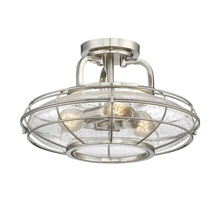 Savoy House 6-574-3-SN - Connell 3 Light Semi-Flush