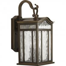 Progress P5717-108 - Three Light Oil Rubbed Bronze Water Seeded Glass Wall Lantern