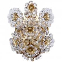 Visual Comfort ARN 2223G-CG - Claret Shield Sconce in Gild with Crystal