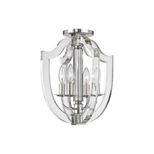 Hudson Valley 6500-PN - 4 Light Semi Flush