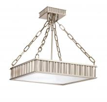 Hudson Valley 933-AGB - 3 Light Semi Flush