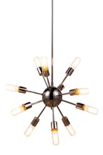 Elegant 1134D21PN - 1134 Cork Collection Chandelier D:21in H:21in Lt:12 Polished Nickel Finish