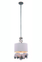 Elegant 1486D15VN - 1486 Milan Collection Pendant D:15in H:73in Lt:2 Vintage Nickel Finish