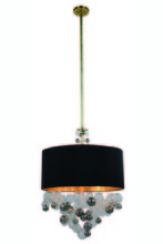 Elegant 1486D24BB - 1486 Milan Collection Pendant D:24in H:78in Lt:3 Burnished Brass Finish