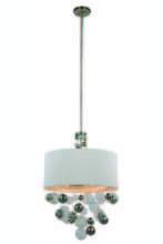 Elegant 1486D24VN - 1486 Milan Collection Pendant D:24in H:78in Lt:3 Vintage Nickel Finish