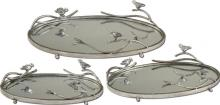 Uttermost 19710 - Uttermost Birds On A Limb Mirrored Trays, Set/3