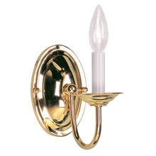 Livex Lighting 4151-02 - 1 Light Polished Brass Wall Sconce