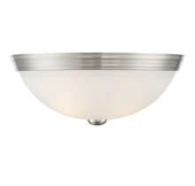 "Savoy House 6-780-13-SN - 13"" Flush Mount White Glass"