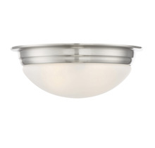 "Savoy House 6-782-13-SN - 13"" Flush Mount White Glass"