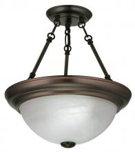Light Concepts (Lithonia) 11780 BZ - Bronze Bowl Semi-Flush Mount