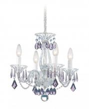Schonbek 6994CL - Allegro 4 Light 110V Chandelier in Silver with Clear Heritage Crystal