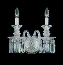 Schonbek 5036 - Fairfax 2 Light 110V Wall Sconce in Silver with Clear Heritage Crystal
