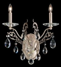 Schonbek FE7002N-76H - Filigrae 2 Light 110V Wall Sconce in Heirloom Bronze with Clear Heritage Crystal