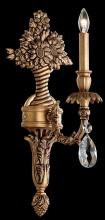 Schonbek GE4701N-83H - Genzano 1 Light 110V Wall Sconce in Florentine Bronze with Clear Heritage Crystal