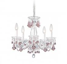 Schonbek 6985CL - Minuet 5 Light 110V Chandelier in Silver with Clear Heritage Crystal
