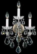 Schonbek 3652-26H - New Orleans 3 Light 110V Wall Sconce in French Gold with Clear Heritage Crystal