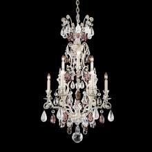 Schonbek 3580-48OS - Renaissance Rock Crystal 10 Light 110V Chandelier in Antique Silver with Olivine And Smoke Topaz Cle