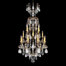 Schonbek 3582-26AD - Renaissance Rock Crystal 17 Light 110V Chandelier in French Gold with Amethyst And Black Diamond Roc