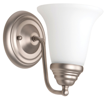 Craftmade 15305BN1-WG - Cathryn 1 Light Wall Sconce in Brushed Satin Nickel