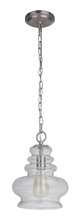 Craftmade P745BNK1 - 1 Light Mini Pendant in Brushed Polished Nickel