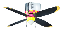"Craftmade WB448GG4 - WarPlanes 48"" Ceiling Fan with Blades and Light in WarPlanes Glamorous Glen"