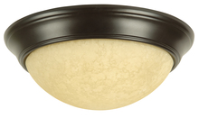 Craftmade X4913-OB - 2 Light Twist-In Glass Flushmount in Oiled Bronze