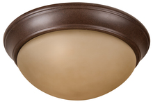"Craftmade XPP15AG-3A - Pro Builder Premium 3 Light 15"" Flushmount in Aged Bronze Textured"