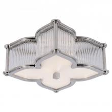 Visual Comfort AH 4018PN/CG-FG - Lana Small Flush Mount in Polished Nickel and Cl