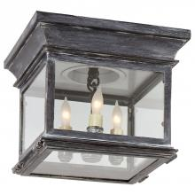 Visual Comfort CHO 4310WZ-CG - Club Small Square Flush Mount in Weathered Zinc