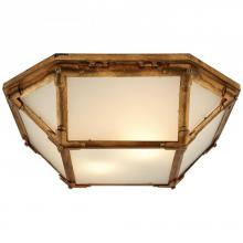 Visual Comfort SK 4008GI-FG - Morris Flush Mount in Gilded Iron with Frosted G
