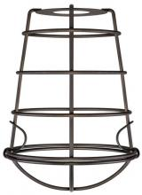Westinghouse 8505100 - Oil Rubbed Bronze Finish Cage Shade with Latched Bottom