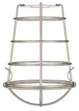 Westinghouse 8505200 - Brushed Nickel Finish Cage Shade with Latched Bottom