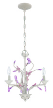 Jeremiah 1023P-ATL - 3 Light Mini Chandelier in Antique Linen