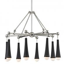Hudson Valley 2128-PN - 8 Light LED Chandelier