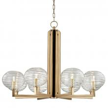 Hudson Valley 2418-AGB - 8 Light LED Chandelier