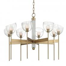 Hudson Valley 2808-AGB - 8 Light LED Chandelier