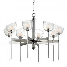 Hudson Valley 2808-PN - 8 Light LED Chandelier