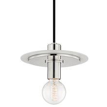 Hudson Valley H137701S-PN/WH - 1 Light Small Pendant