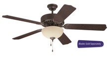 "Ellington Fan E202AG - Pro Builder 202 52"" Ceiling Fan with Light in Aged Bronze Textured (Blades Sold Separately)"