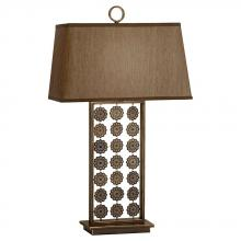 Feiss 10093ORBP - One Light Faux Silk (gold)�hardback W/ Fabric Shade Oil Rubbed Bronze Patina Table Lamp
