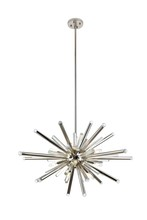Elegant 1141G38PN - 1141 Maxwell Collection Chandelier D:38in H:26.4in Lt:14 Polished Nickel Finish (Royal Cut Crystals)