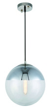 Elegant 1142D12PN - 1142 Beckett Collection  Pendant D:12in H:12in Lt:1 Polished Nickel Finish