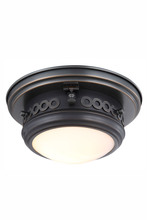 Elegant 1447F10BZ - 1447 Mallory Collection Flush mount D:10in H:5.5in Lt:1 Bronze Finish