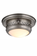 Elegant 1447F10VN - 1447 Mallory Collection Flush mount D:10in H:5.5in Lt:1 Vintage Nickel Finish