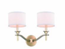 Elegant 1527W16BB - 1527 Segovia Collection Wall Sconce D:16.5in H:12in E:10in Lt:2 Burnished Brass Finish