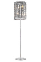 Elegant 2030FL65C/RC - 2030 Maxime Collection Floor Lamp D15in H65in Lt:4 Chrome Finish (Royal Cut Crystals)