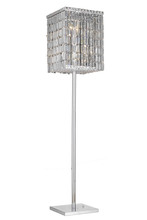 Elegant 2032FL65C/RC - 2032 Maxime Collection Floor Lamp L15in W15in H65in Lt:4 Chrome Finish (Royal Cut Crystals)